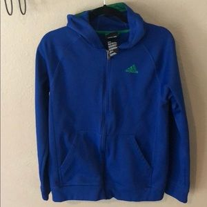 Adidas zip up hoodie track suit  jacket XL